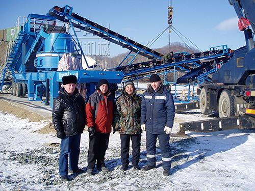 200TPH мобильная дробильная установка для гранита на площадке в России Находке